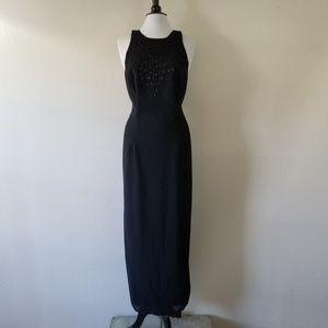 After Dark Black Simple Beaded Dress 14W (NWOT)